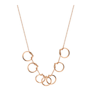 Collier Tiny 7 Cercles Or Rose