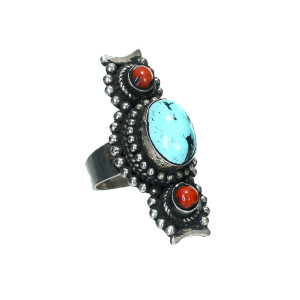 Bague Turquoise Corail - HAKIMY