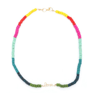 Collier Medina Love Multicolore Gold Filled, Collection Marrakech
