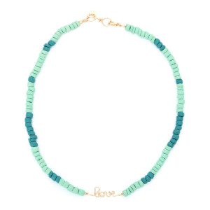 Collier Medina Love Viridien Turquoise Gold Filled, Collection Marrakech