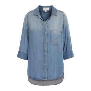 Chemise Tail Button Down Medium Ombre