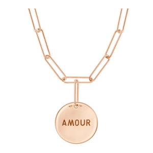 Collier Shaman Talisman Amour Or Rose