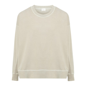 Pull Coton Jersey Beige