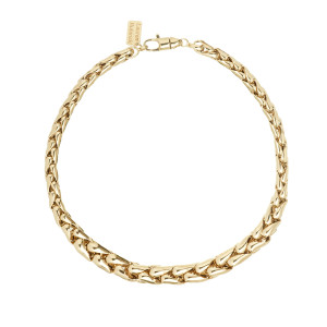 Collier Large 14 Carats Or Jaune