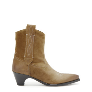 Bottines Justine Cuir Camel, Made In Tomboy x Sartore
