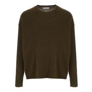 Pull Col Rond Vert Militaire