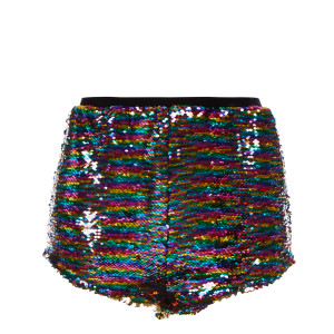 Short Therese Caldou Sequins Multicolore