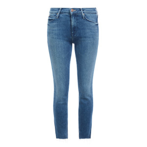 Jean Mid Rise Dazzler Crop Fray We're All In This To