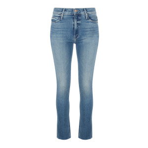 Jean Mid Rise Dazzler Ankle Fray Coton Riding The Cliffside