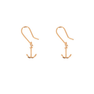Boucles d'oreilles Dormeuses Ancre Gold Filled, Collection Charms