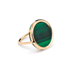 Bague Disc Ever Malachite - GINETTE_NY