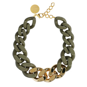 Collier Great Olive Gold