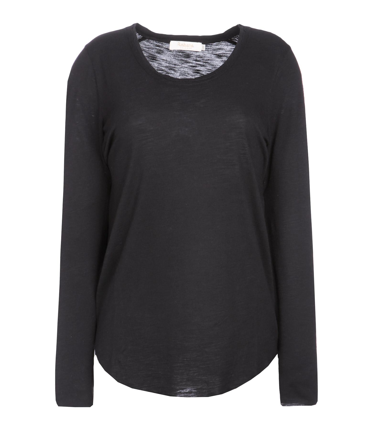Tee-shirt Natascha Coton Noir