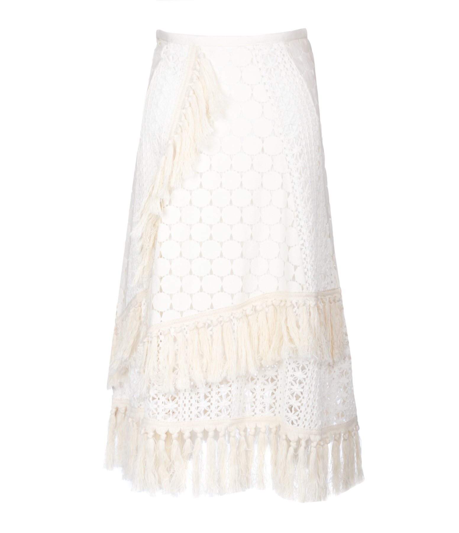 Jupe Broderie Off White