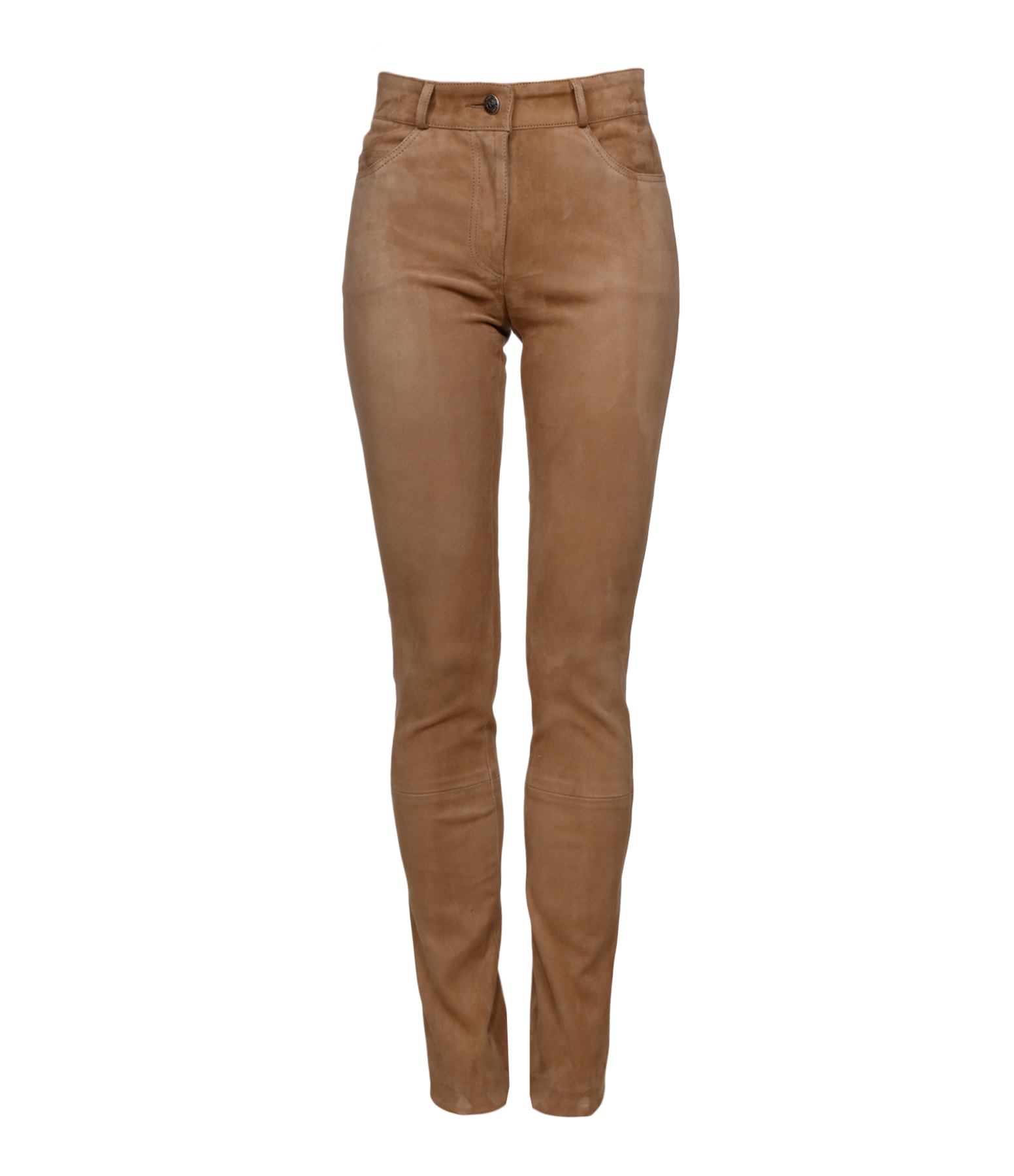 Jean Agnes Metis Velours Stretch Taupe