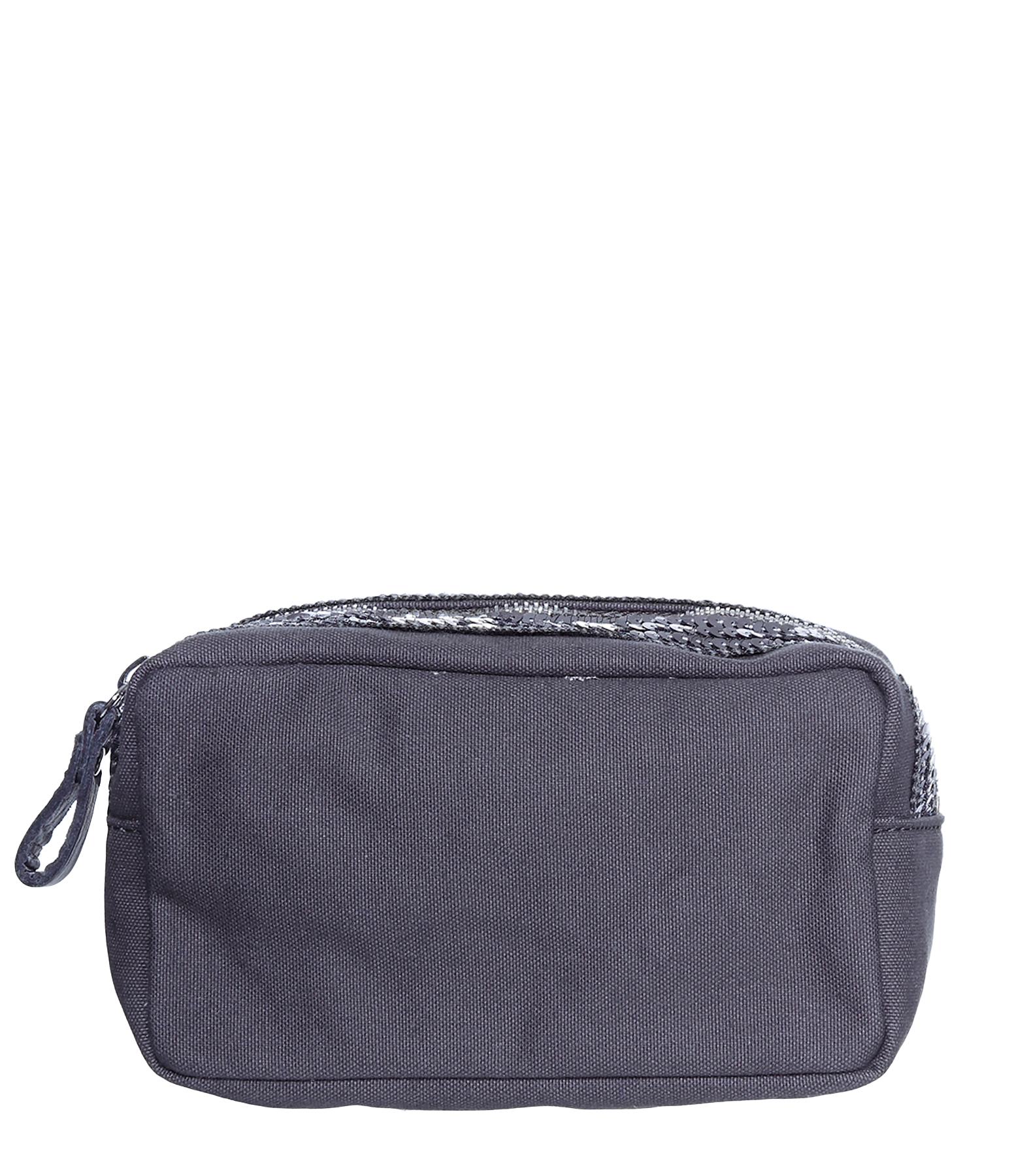 Trousse Maquillage Toile Anthracite