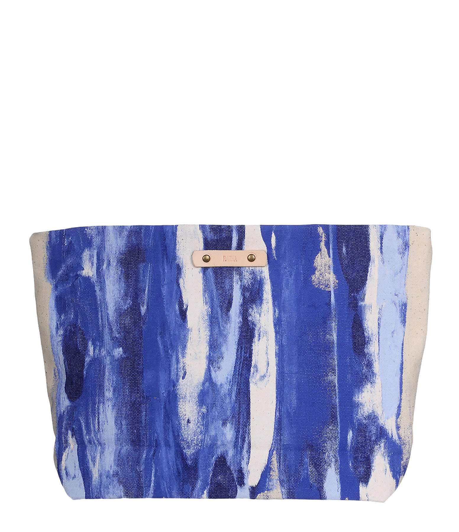 Trousse Zippée Beige / Bleu