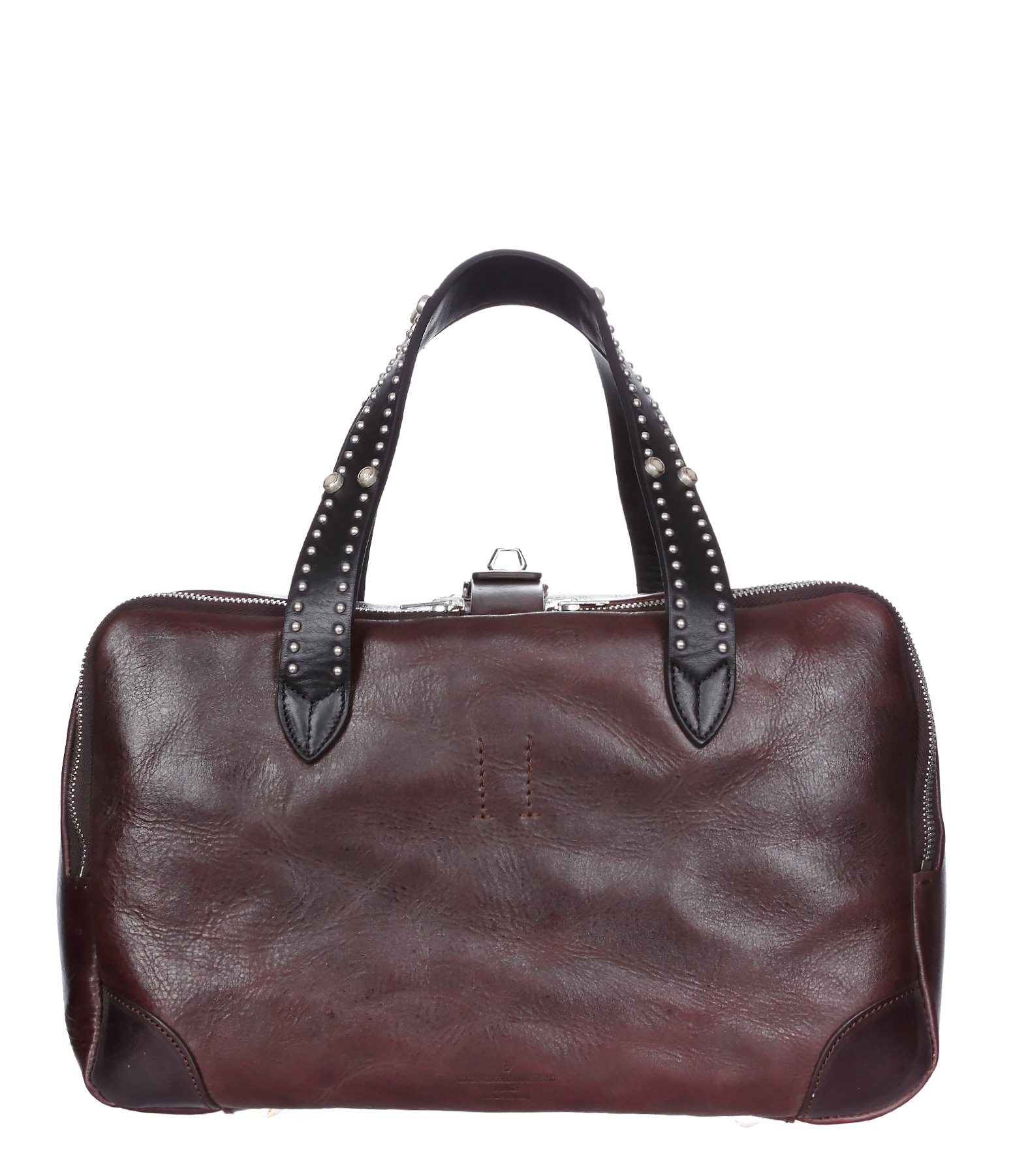 Sac Equipage PM Cuir Studded Brown