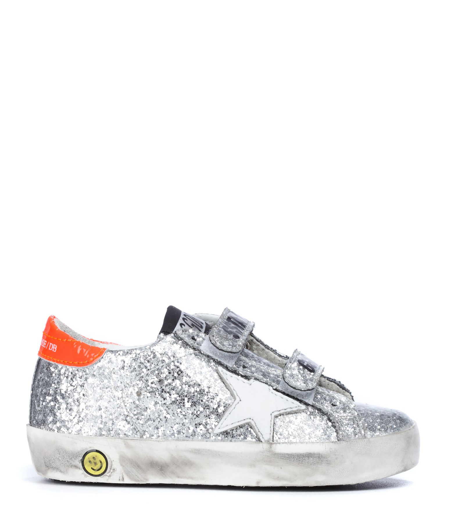 Sneakers Bébé Superstar Old School Silver Glitter White Star