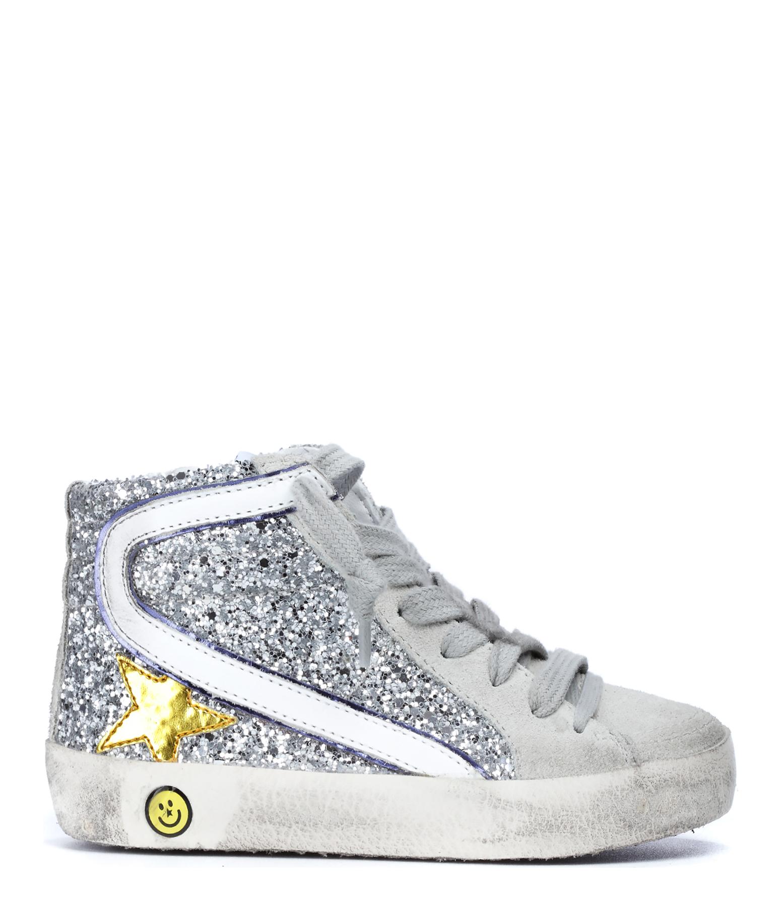 Sneakers Slide Bébé Silver Glitter