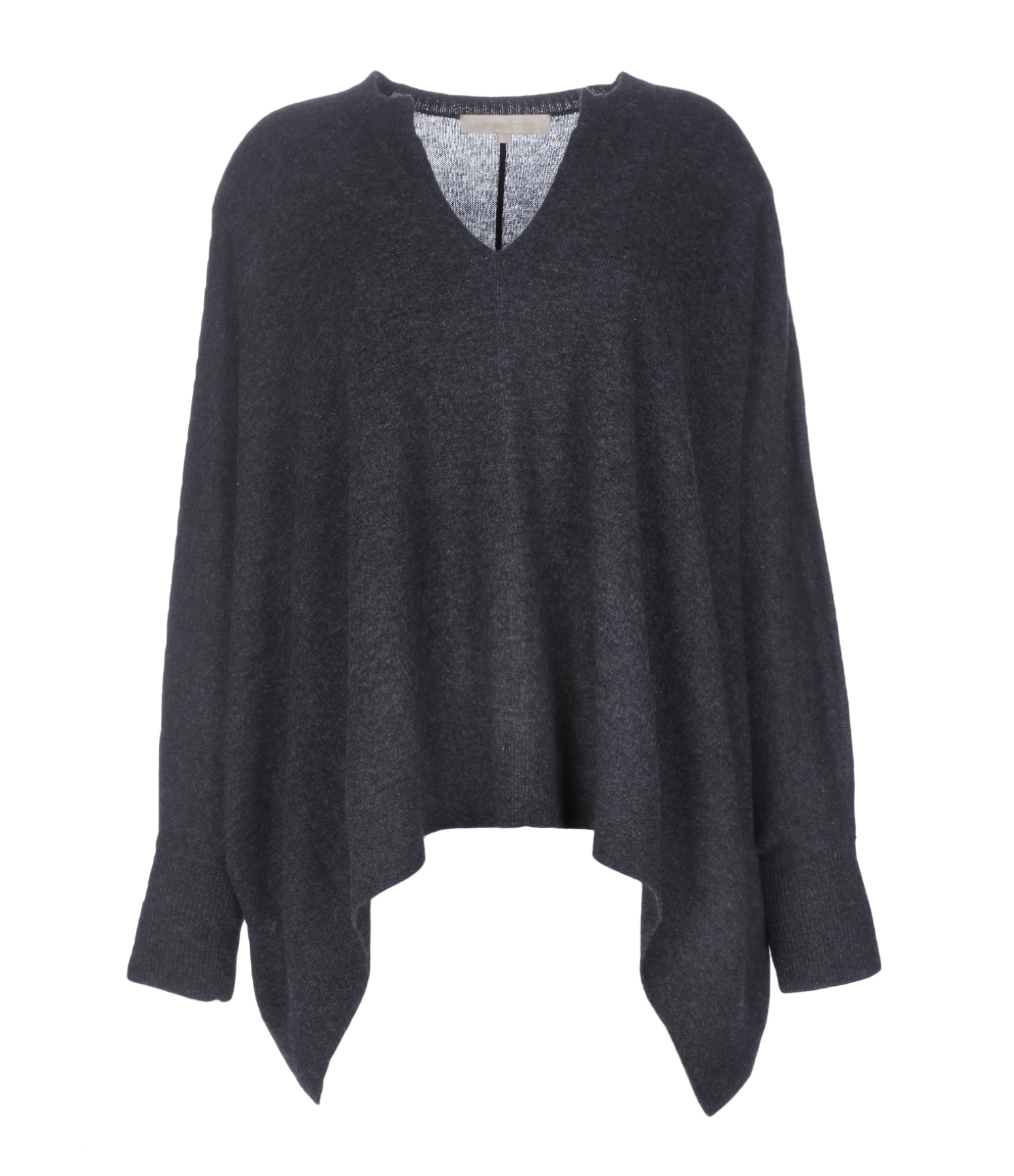 Pull Poncho Gioia Laine Cachemire Anthracite