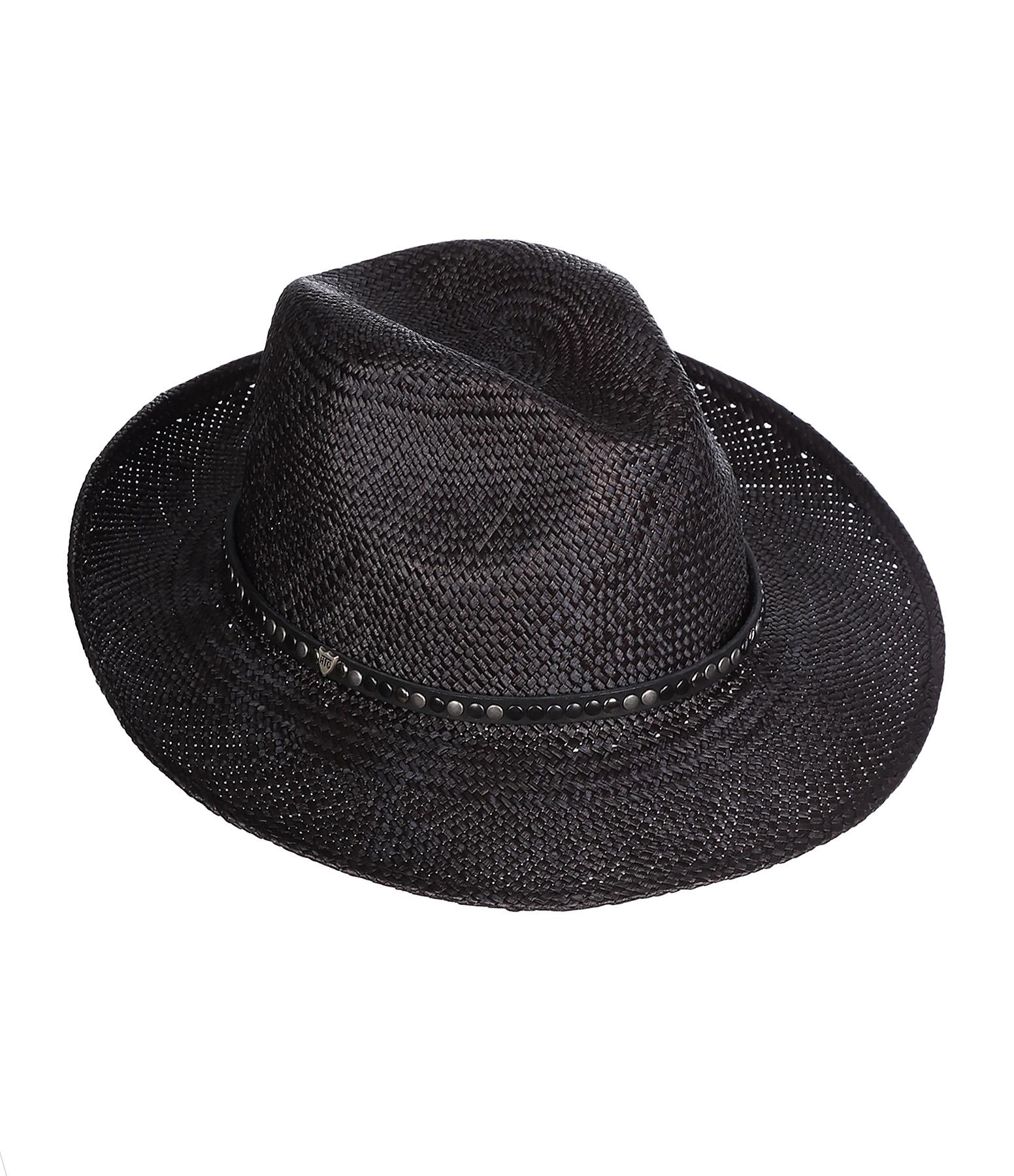 Chapeau Rocky Barnes Paille Noir