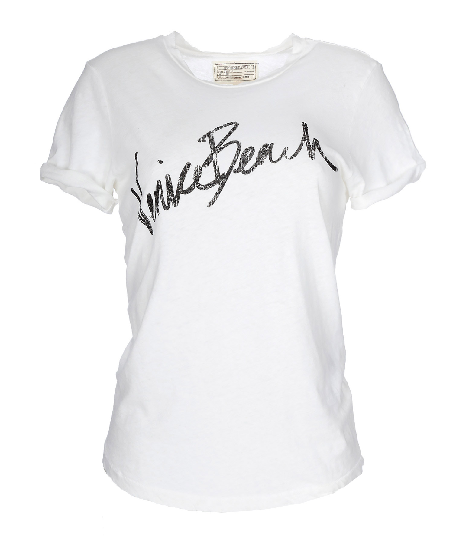 Tee-shirt The Rolled Sleeve Crew Neck Dirty Whit