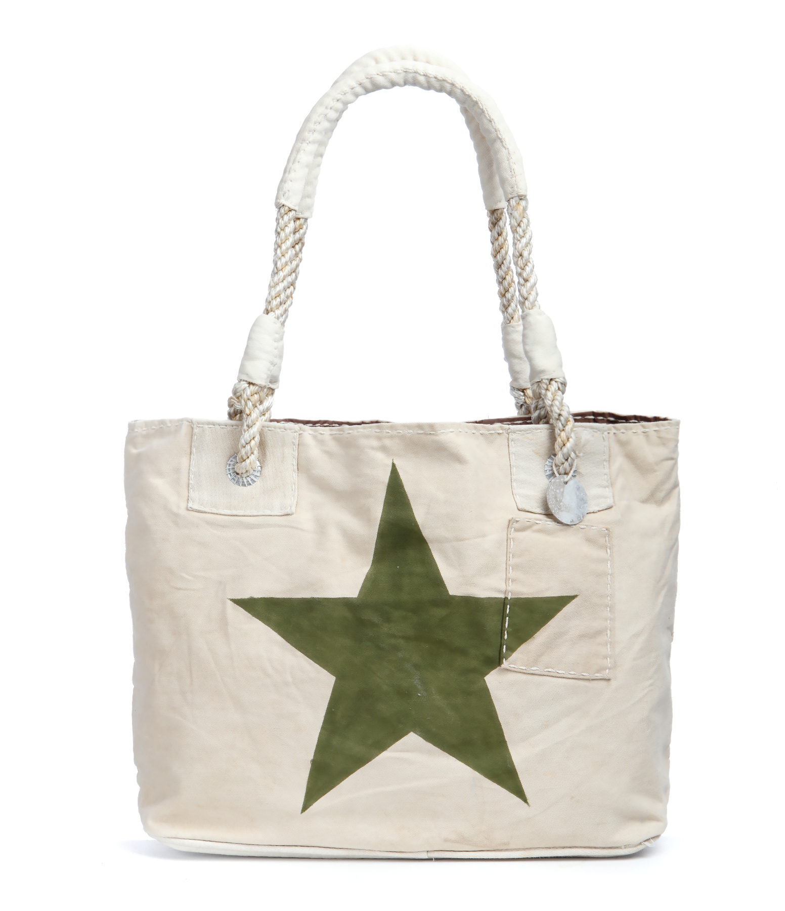 Cabas S Beige Etoile Green Forest