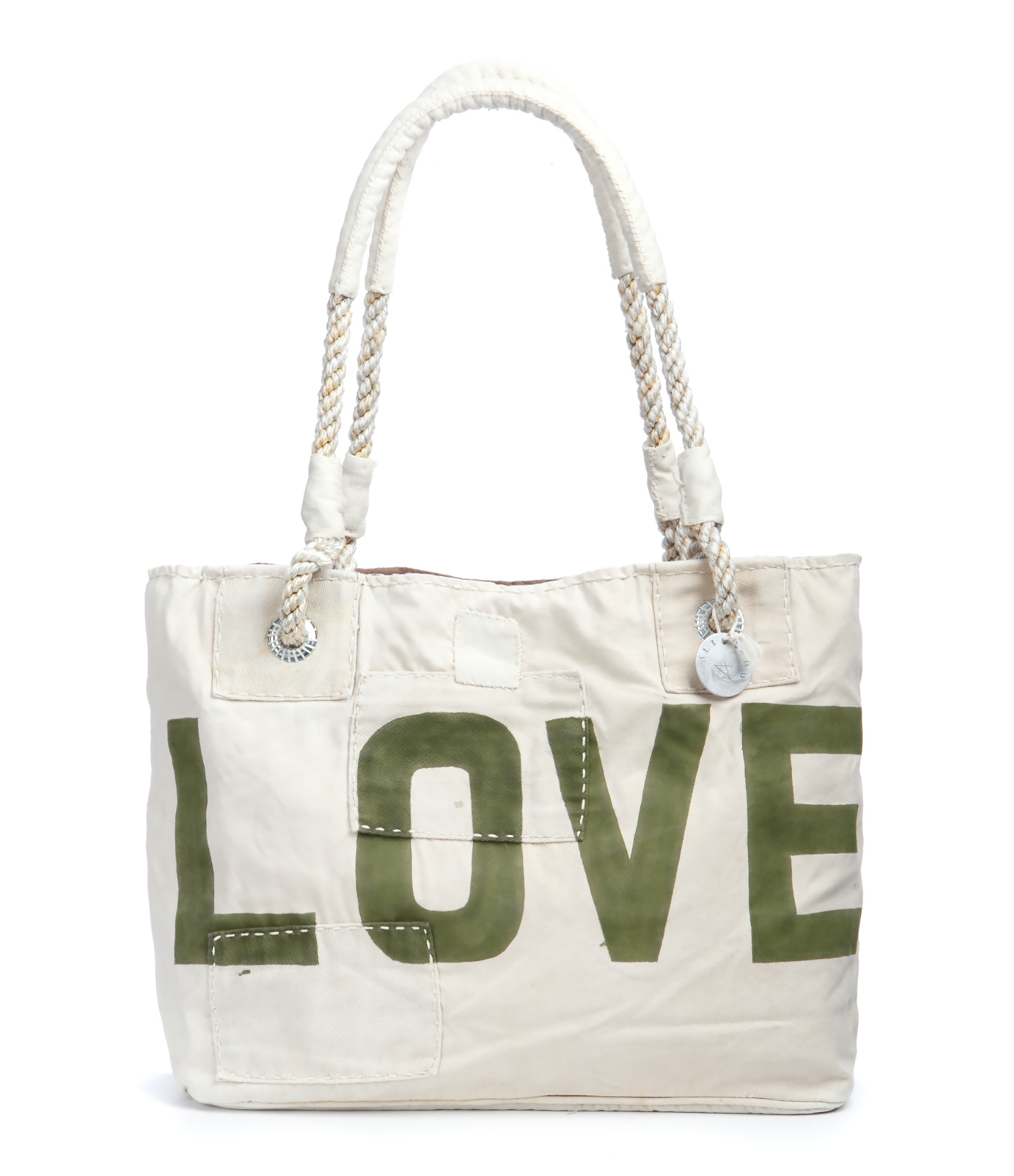Cabas S Beige Love Green Forest