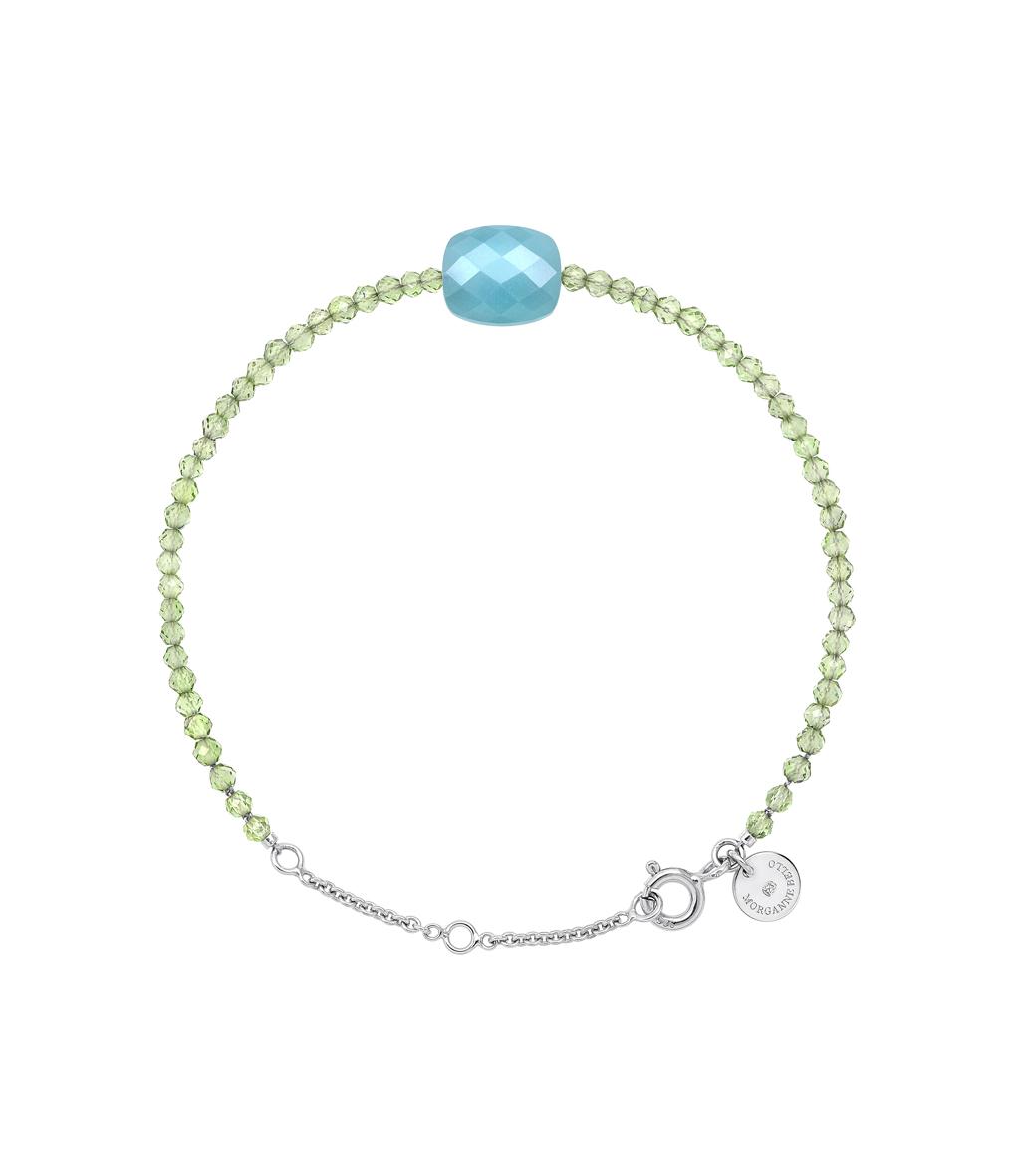 Bracelet Perles d'Evasion Coussin Amazonite Peridot