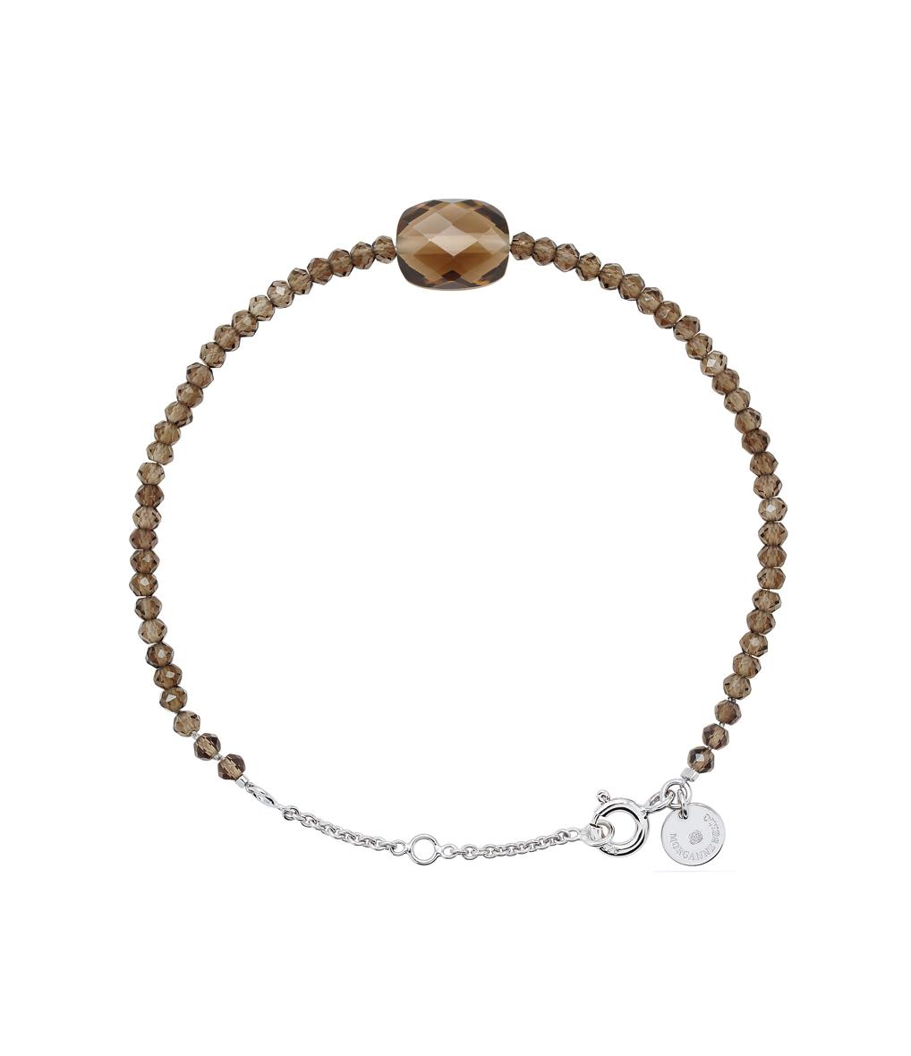 Bracelet Perles d'Evasion Coussin Quartz fumé