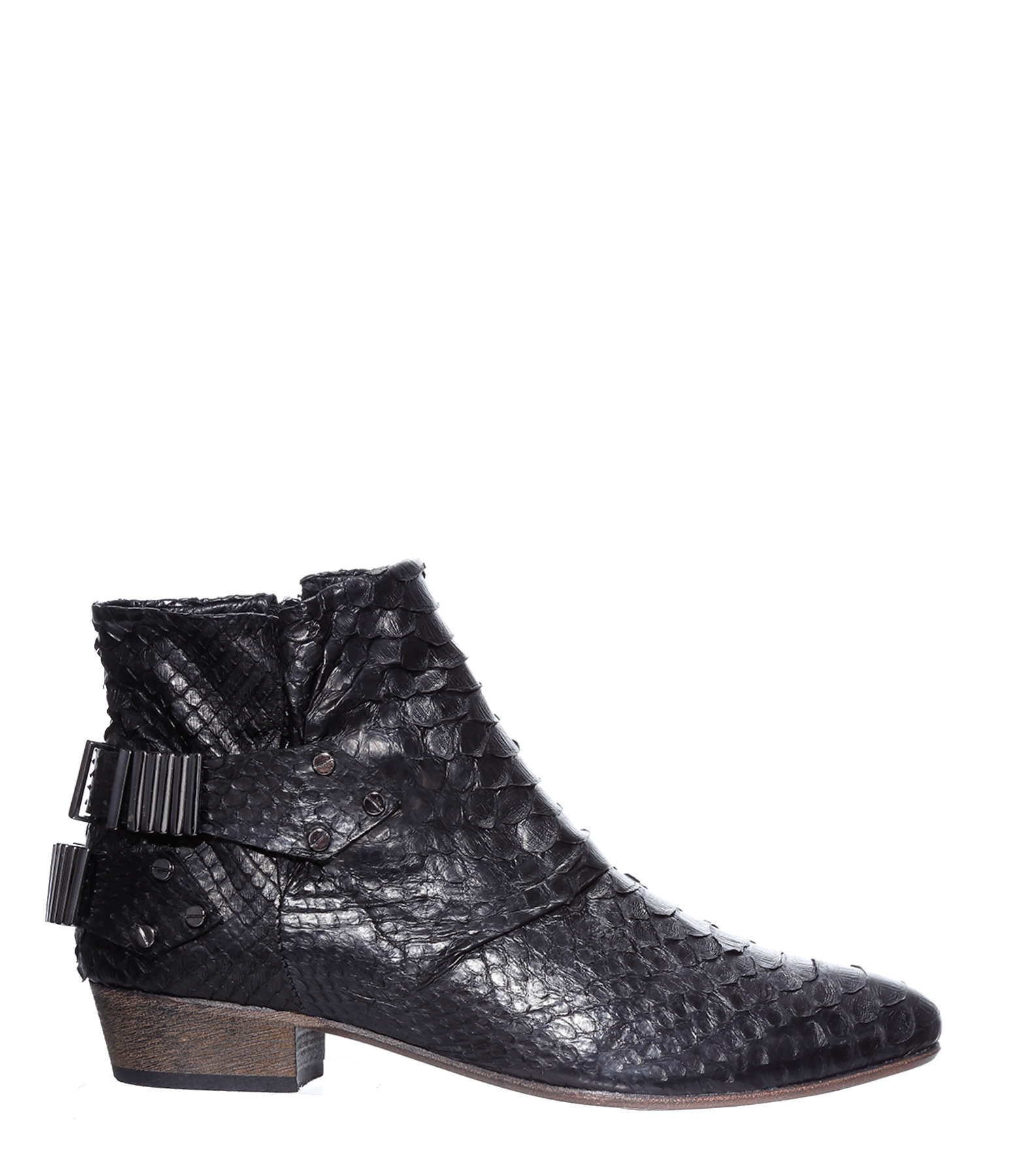 Boots Lo Python Noir / Gunmetal