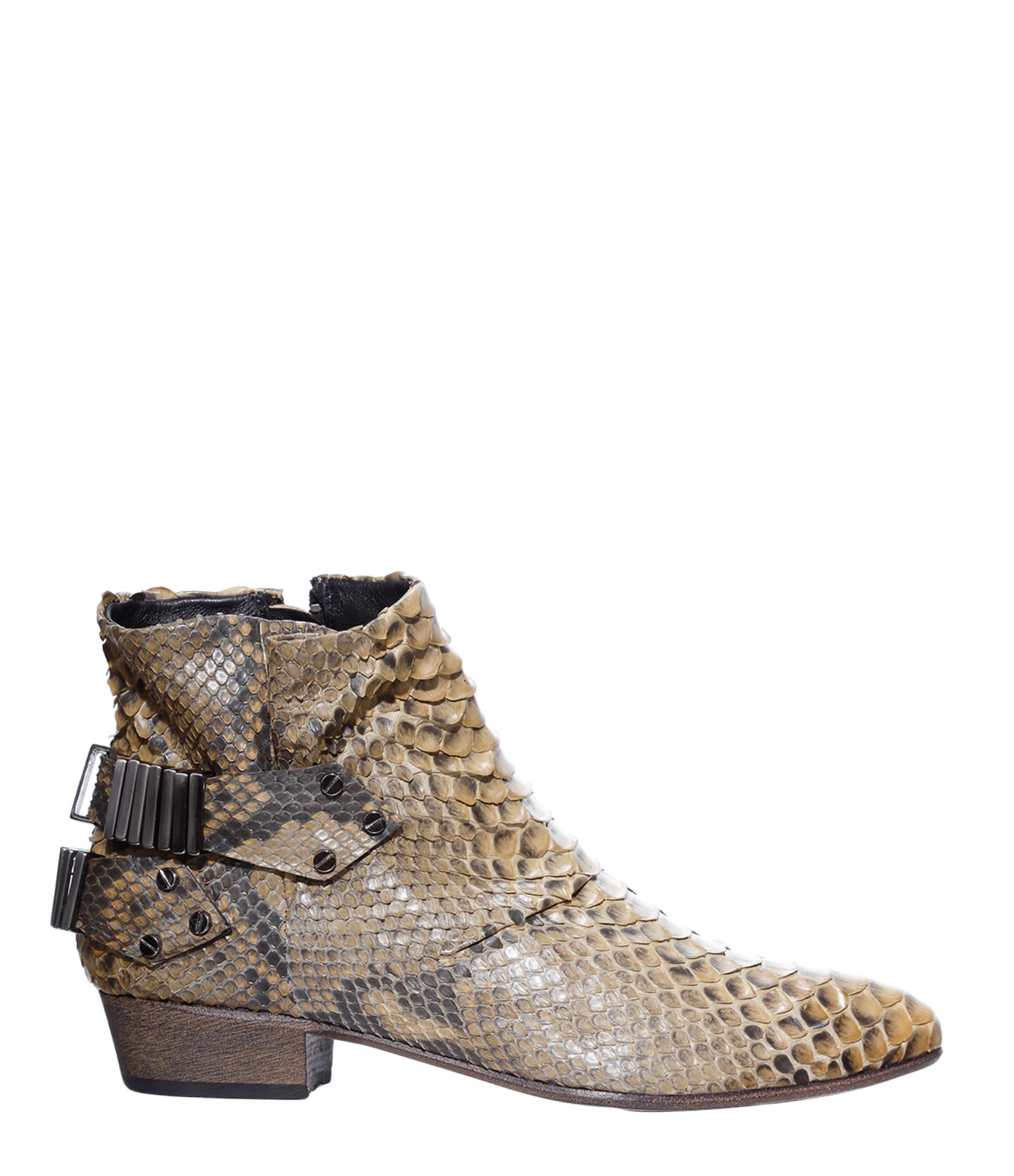 Boots Lo Python Brown Beige