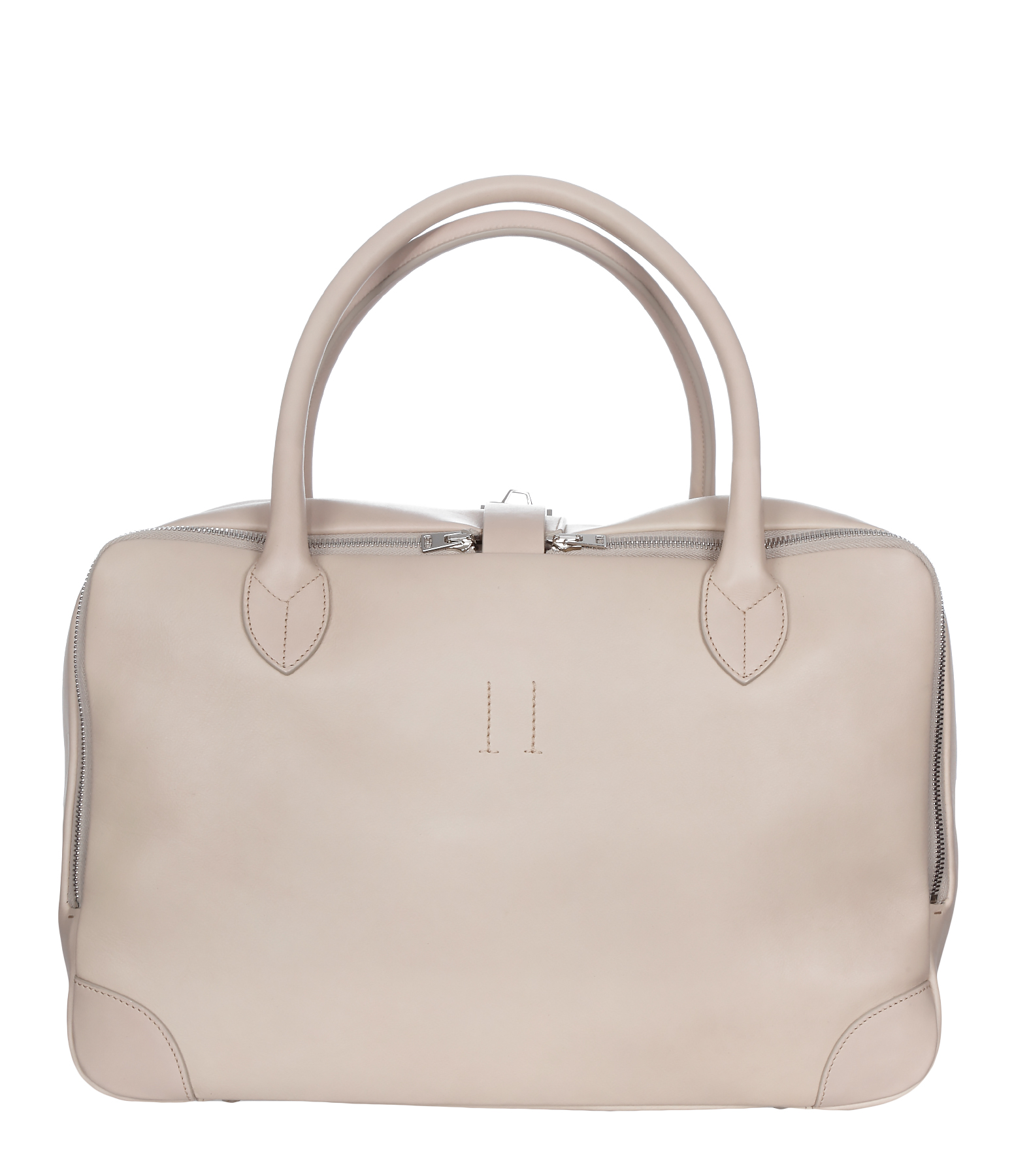 Sac Equipage MM Cuir Dirty White