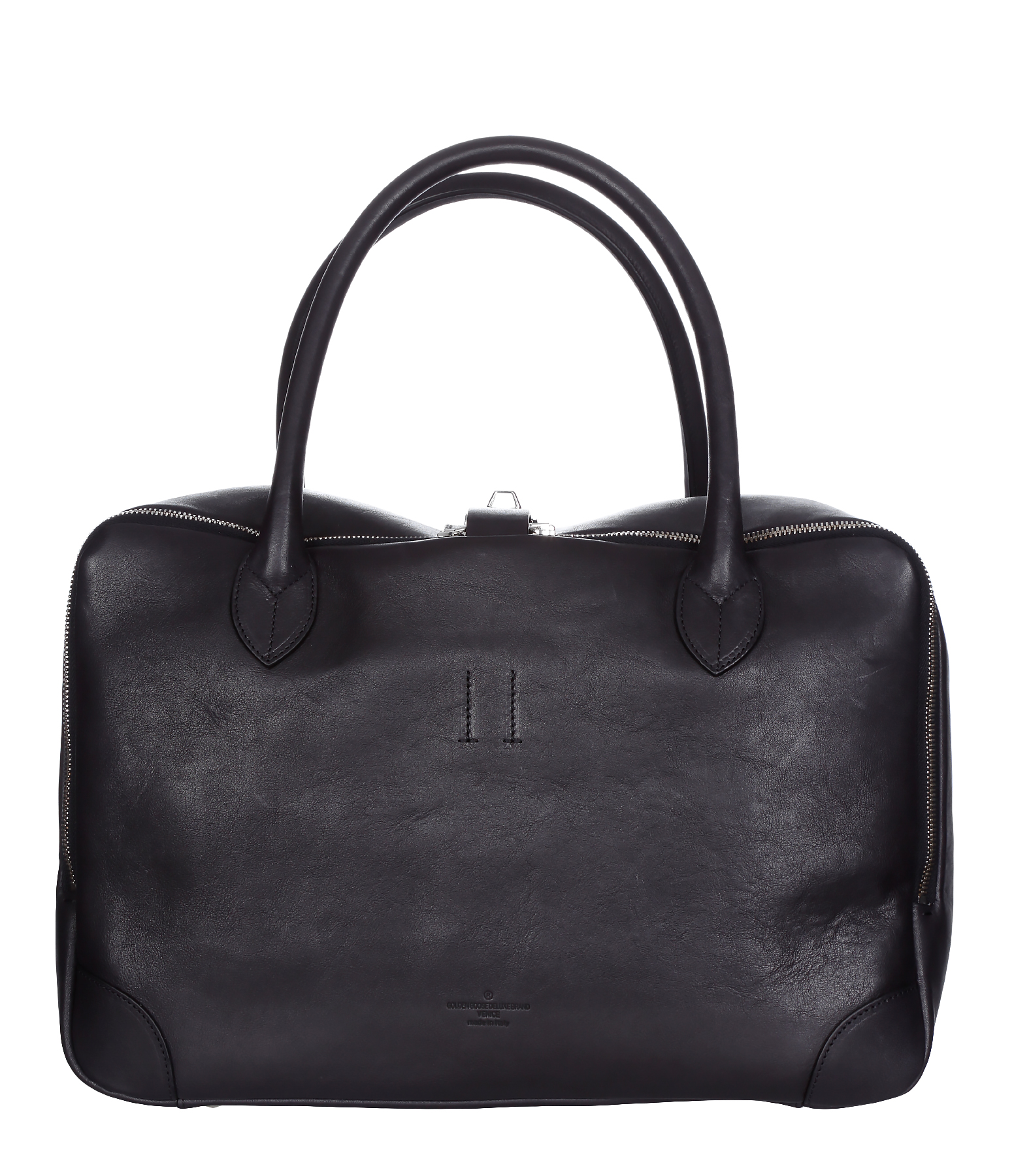 Sac Equipage MM Cuir Waxed Black