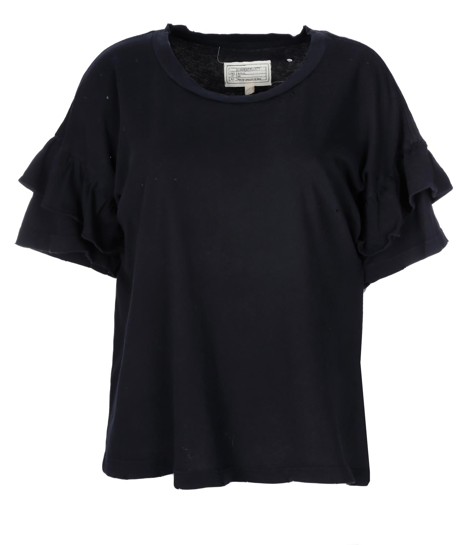 Tee-shirt The Ruffle Coton Washed Black