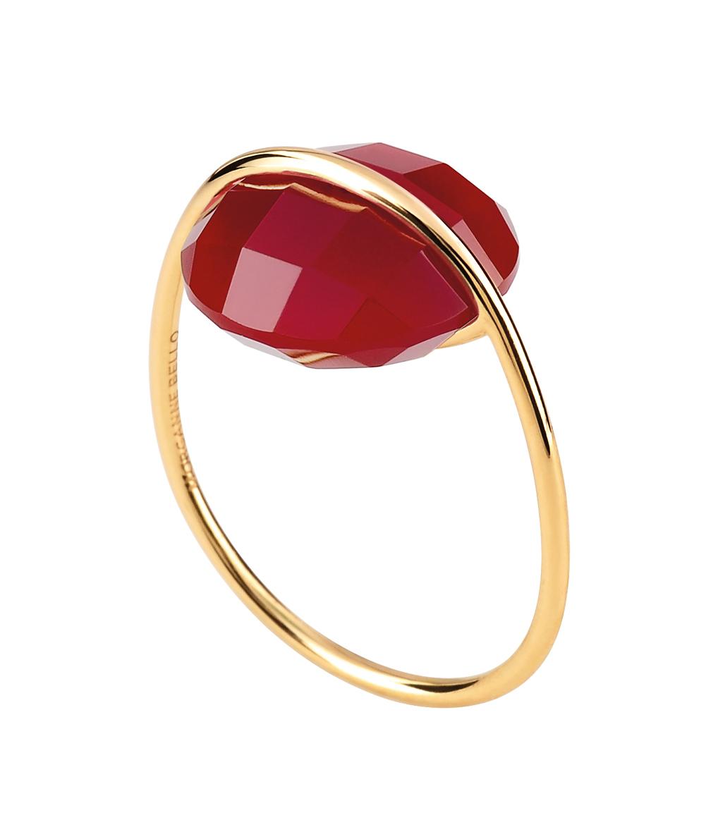 Bague Honoré Agate rouge OJ