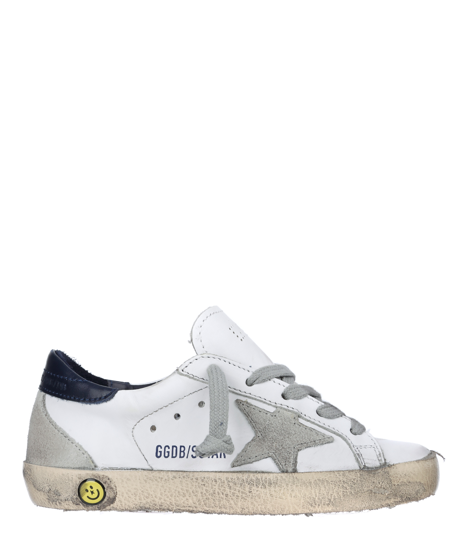 Sneakers Enfant Superstar Cuir White Blue Cream Sole