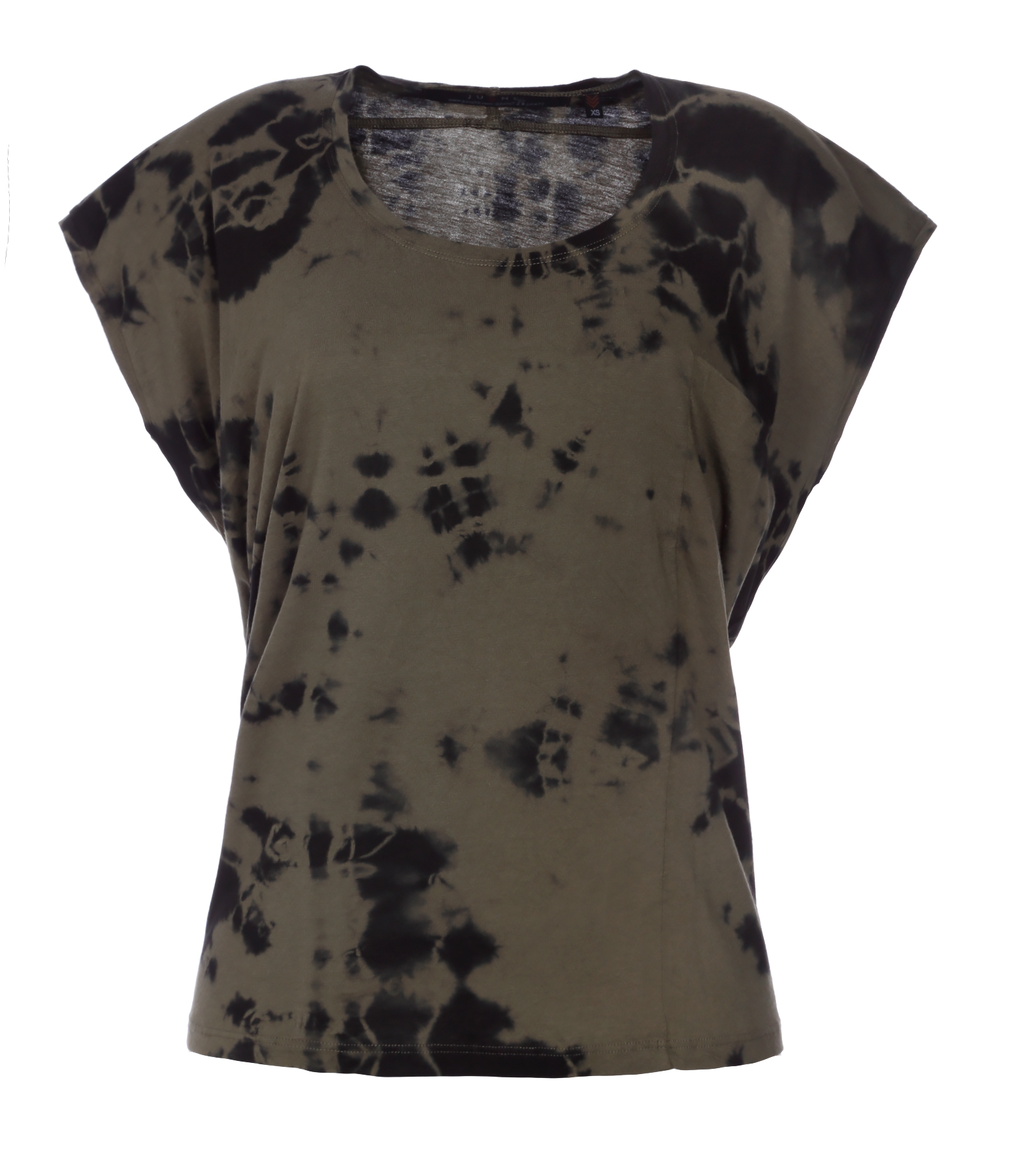 Tee-shirt Milla Coton Tie And Dye Noir Kaki