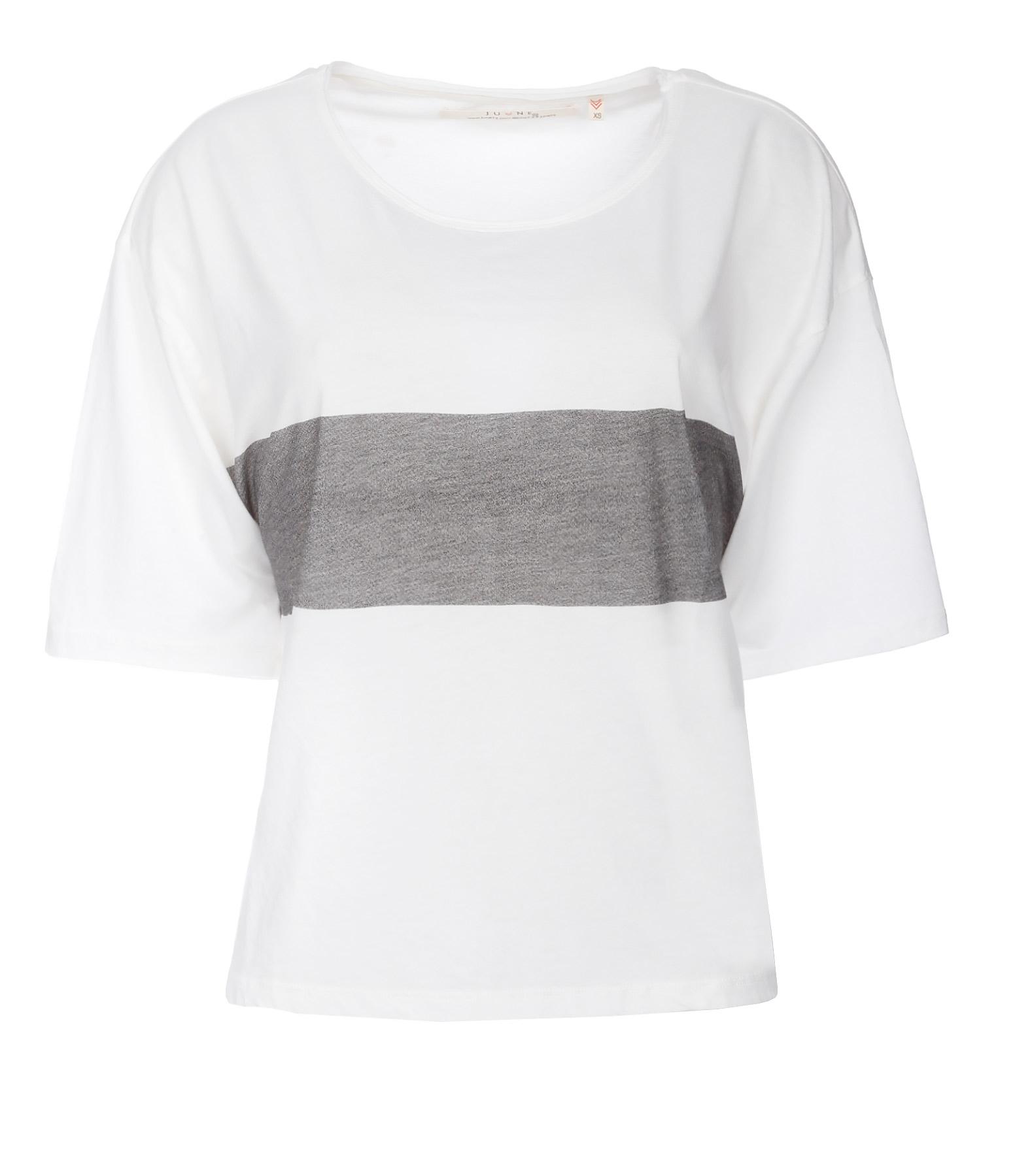Tee-shirt Kate Coton Blanc Logo Noir