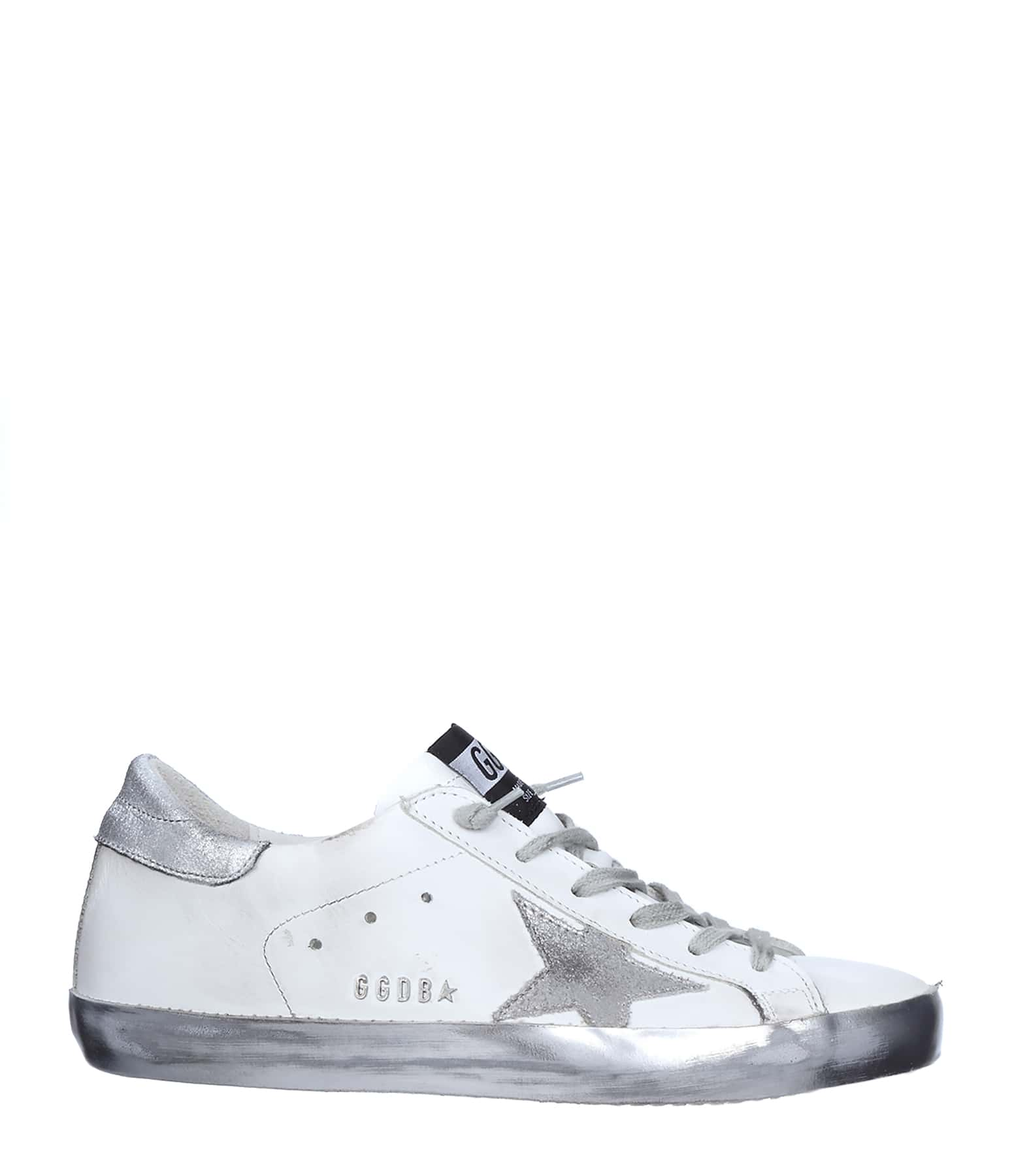 Sneakers Superstar Sparkle Cuir White Silver Star
