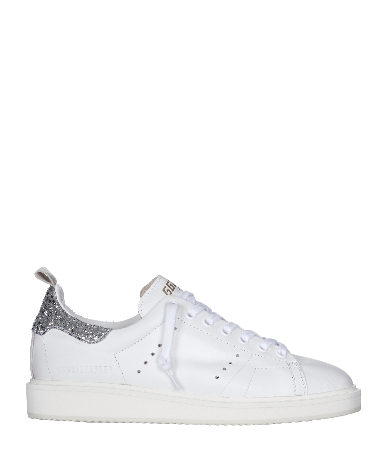 Sneakers Starter Cuir White Silver Glitter