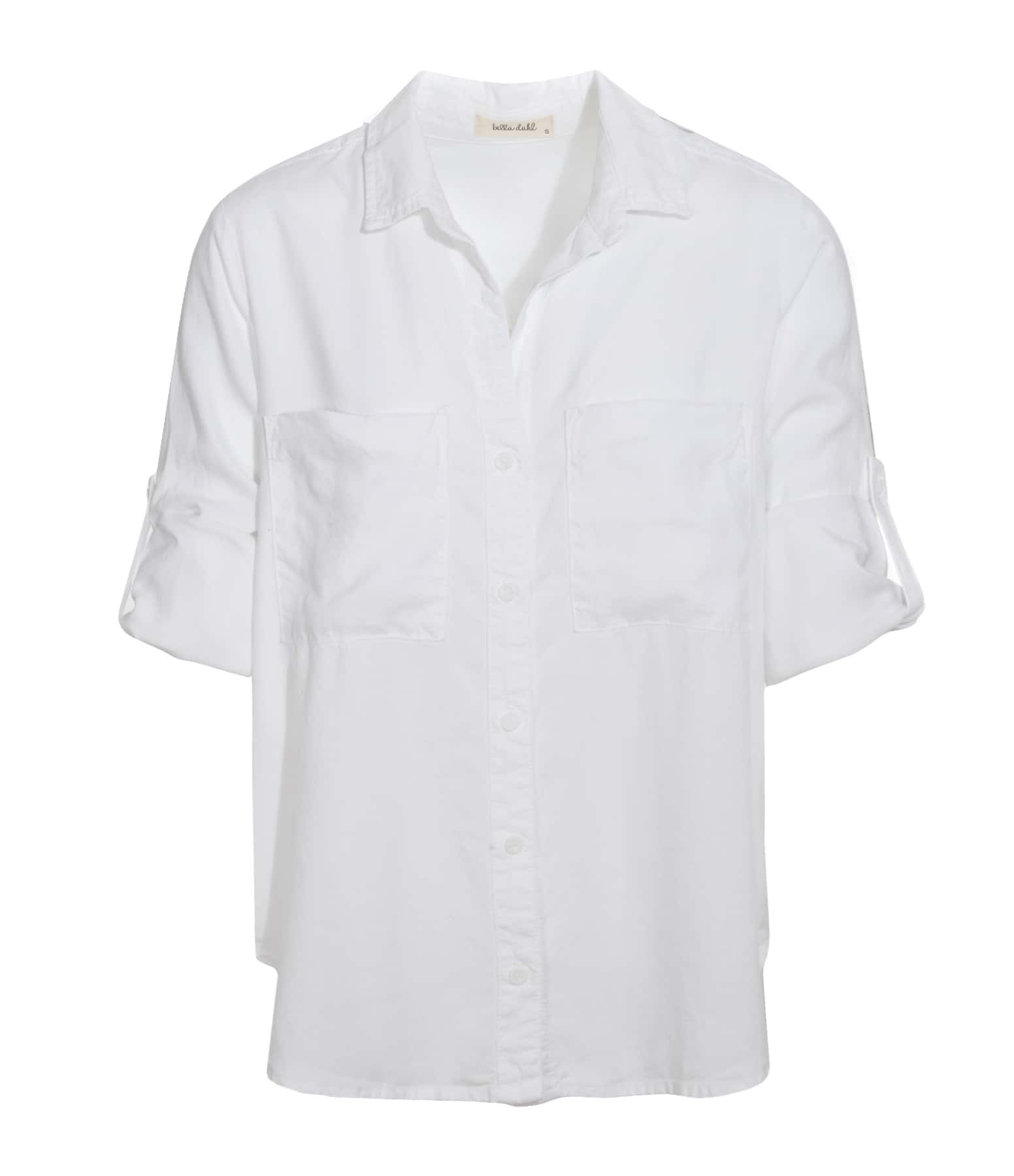 Chemise Foil Stamped Button Down Blanc