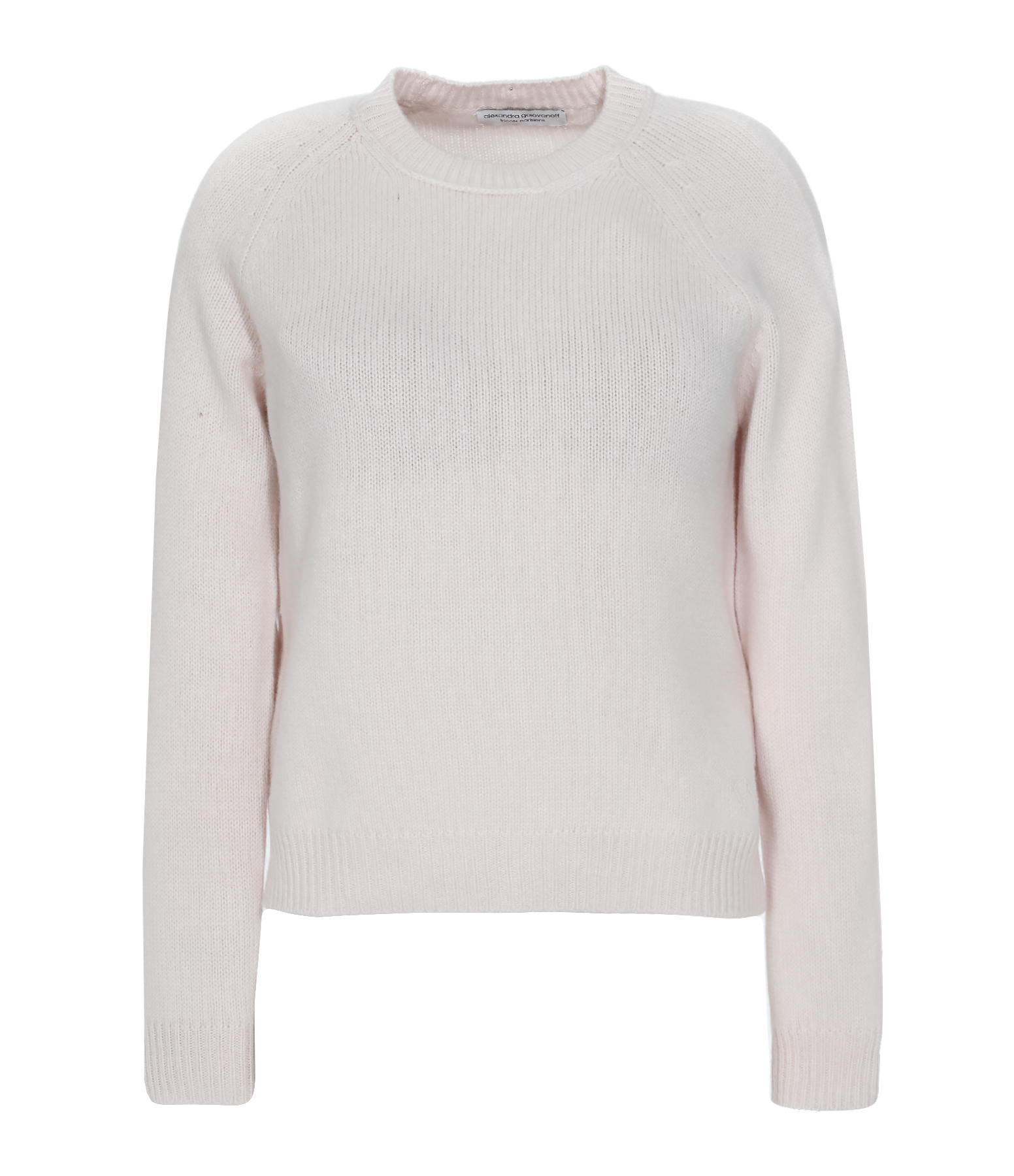 Pull Mila Col Rond Cachemire Poudre