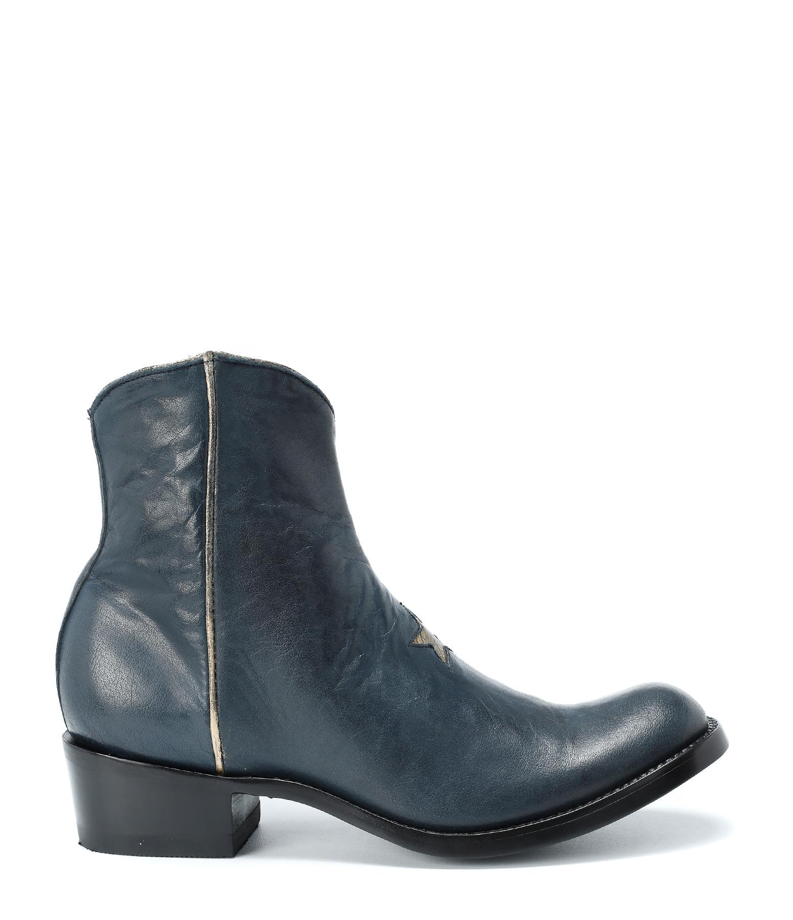 Boots Star Blue Ranchero Gold