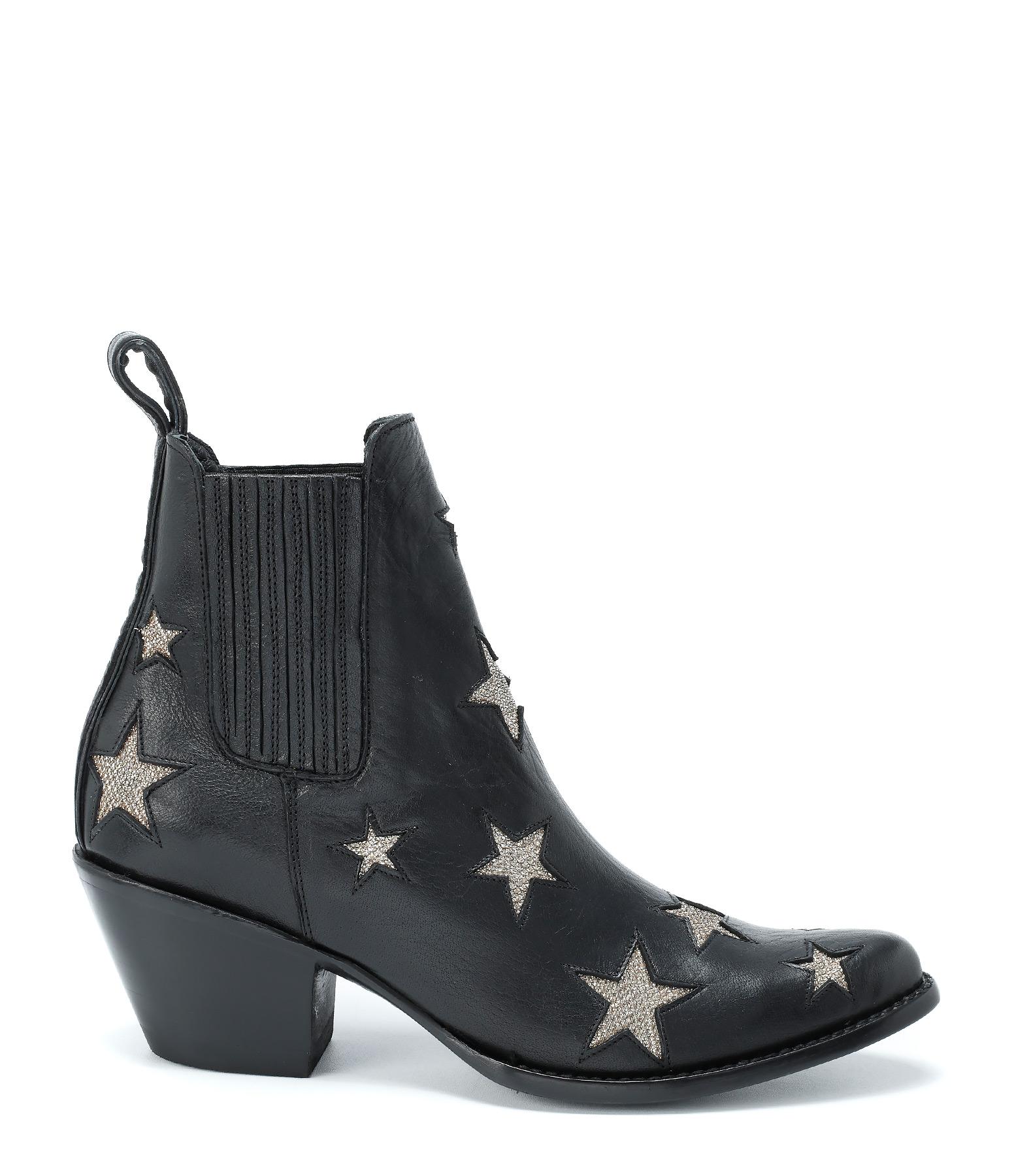 Boots Circus Cuir Black Gold