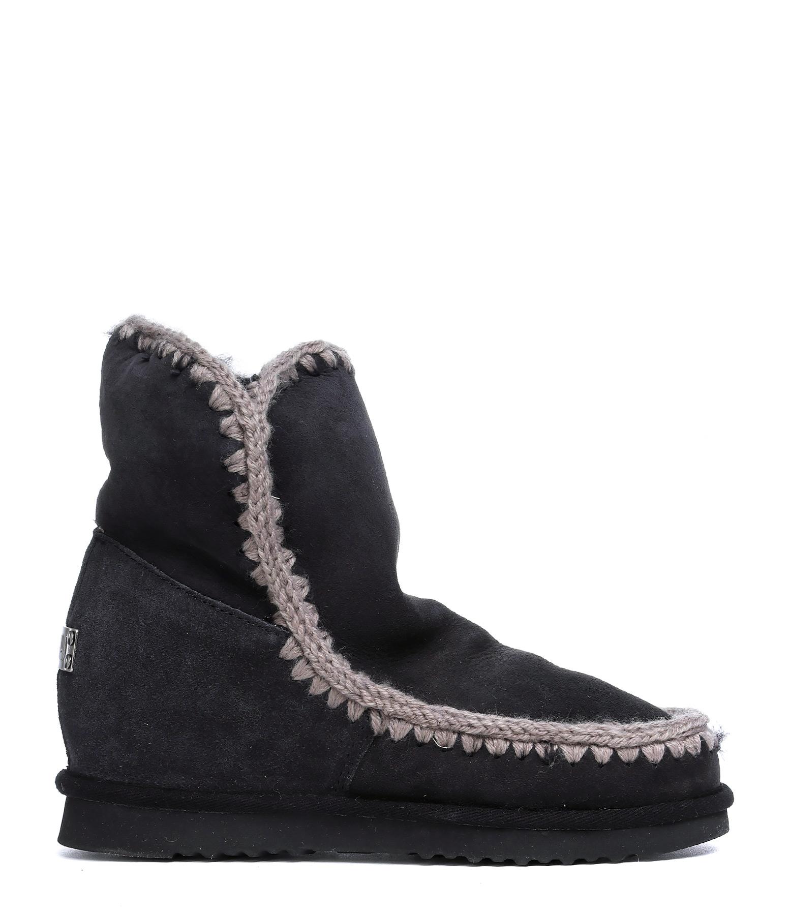 Boots Compensées Courte Eskimo NoirMou 3qcwYr3LW