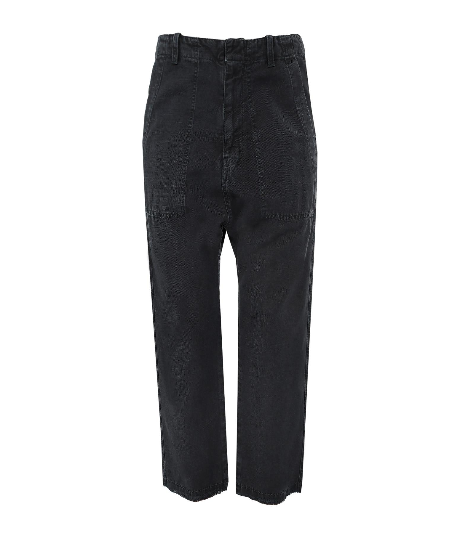 Pantalon Luna Coton Lin Noir