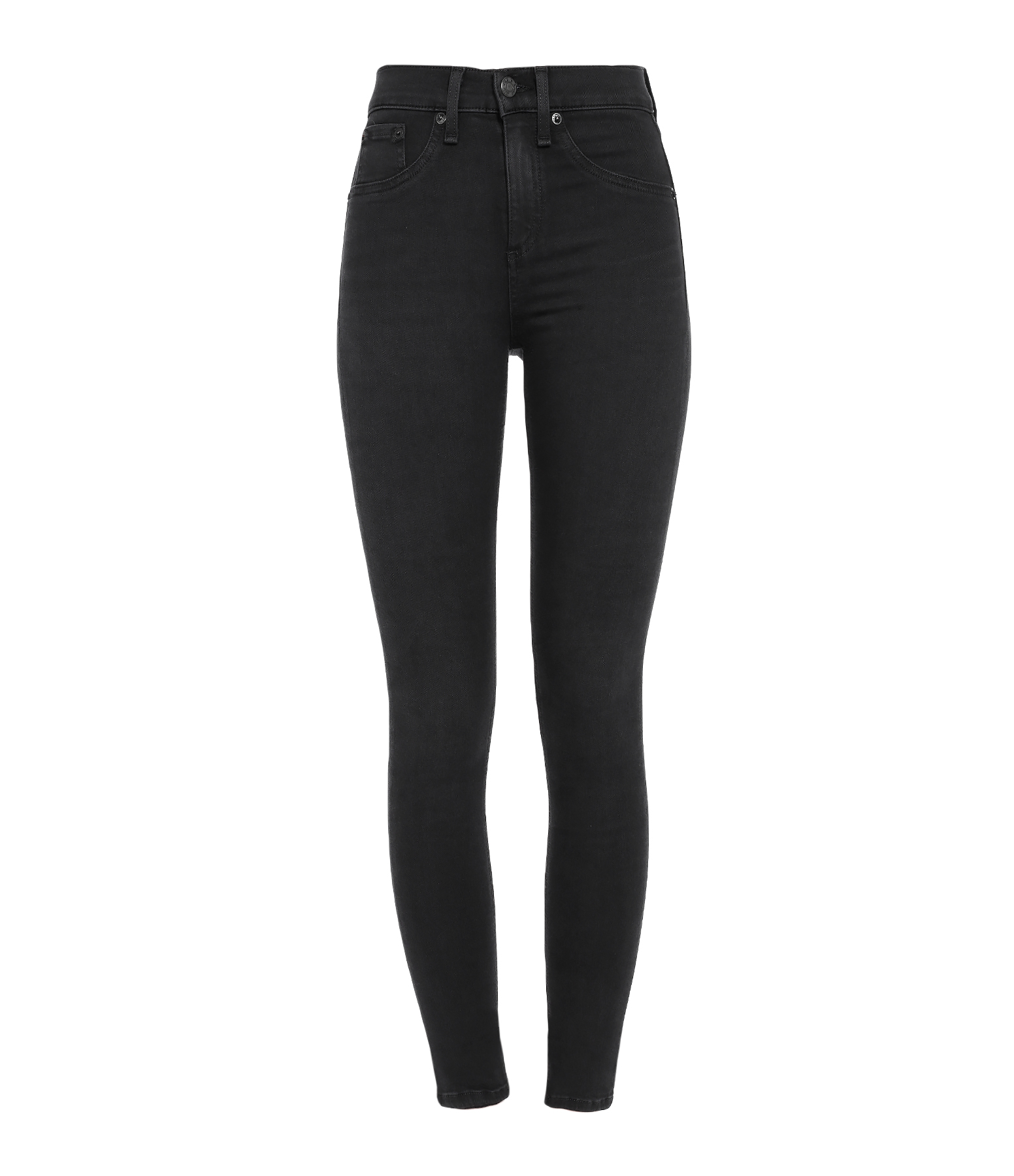 Jean High Rise Skinny Washed Black