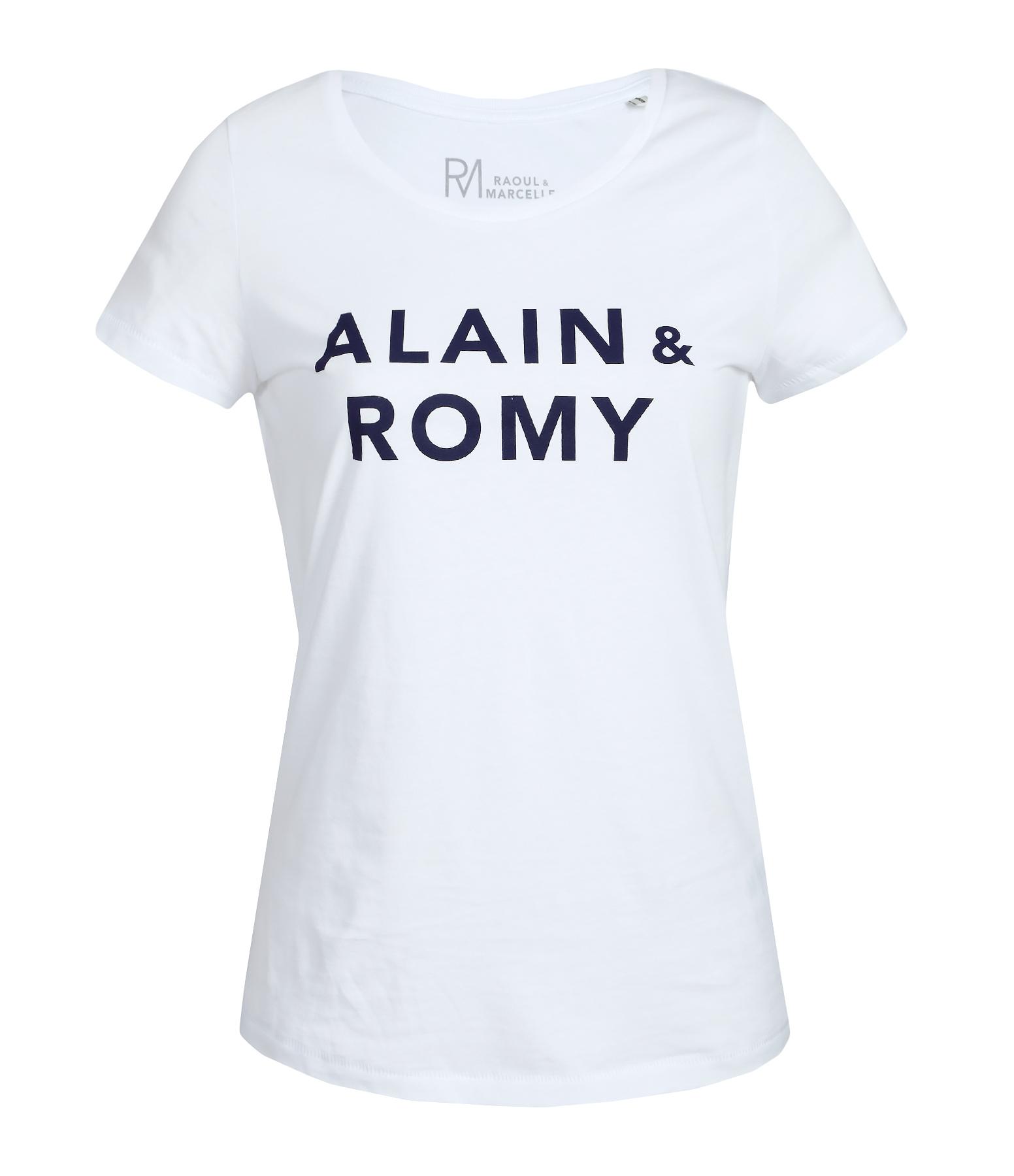 Tee-shirt Danseuse Alain et Romy Coton Organique Blanc Navy